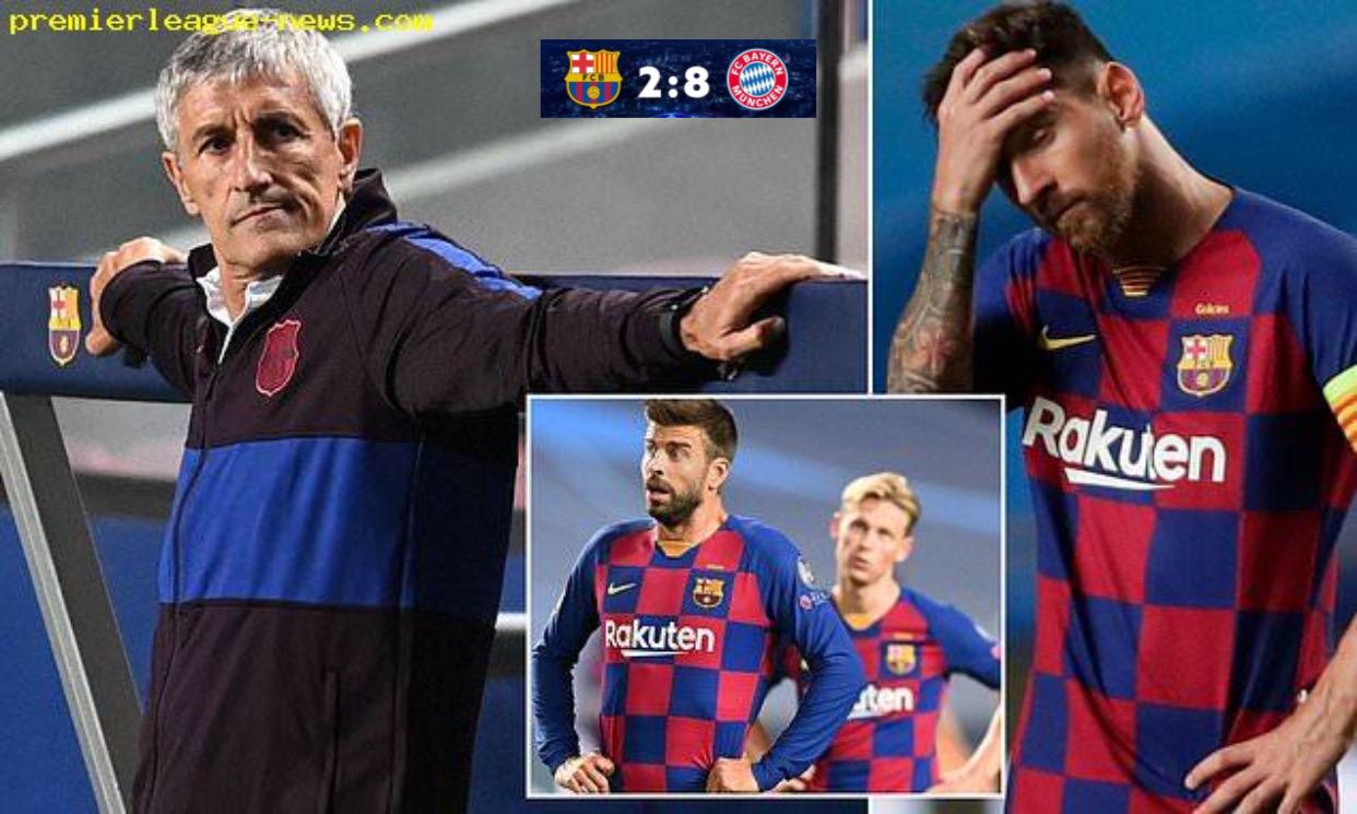 Barcelona បានសម្រេចបណ្ដេញលោក Setien ចោលក្រោយពីបរាជ័យក្នុងលទ្ធផល ២ទល់៨ ជាមួយក្រុម Bayern Munich